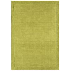 Venice Soft Plain Wool Rugs - Green