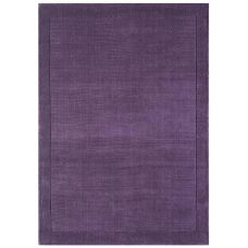 Venice Soft Plain Wool Rugs - Purple