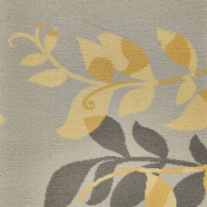 Timorous Beasties Woven Wool Axminster - Yellow Botanical