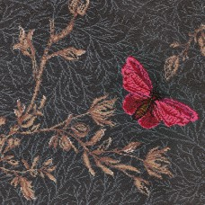 Timorous Beasties Woven Wool Axminster - Noir Ruskin Butterfly