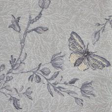 Timorous Beasties Woven Wool Axminster - Silver Ruskin Butterfly