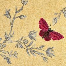 Timorous Beasties Floral Wool Carpet - Yellow Ruskin Butterfly