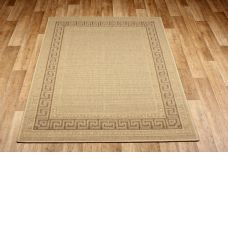 Greek Anti Slip Flatweave Beige Rugs