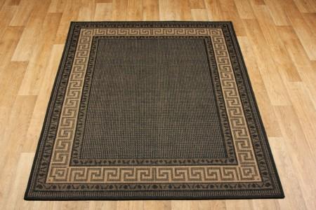 Greek Anti Slip Flatweave Rug - Black