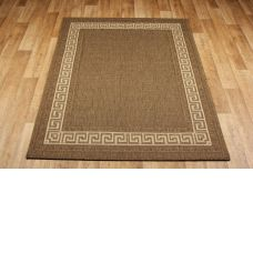 Greek Anti Slip Flatweave Rugs - Brown Rug