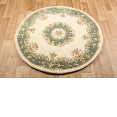 Royal Traditional Circle Rug - Cream Green