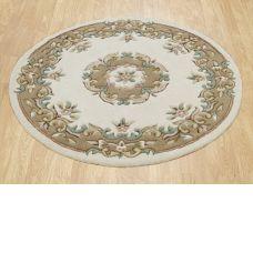 Royal Traditional Circle Rug - Cream Beige