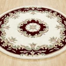 Royal Traditional Circle Rug - Cream Red