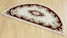 Royal Traditional Half Moon Rug - Cream Red
