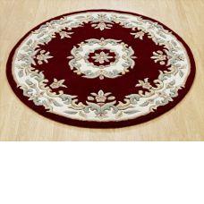 Royal Traditional Circle Rug - Red