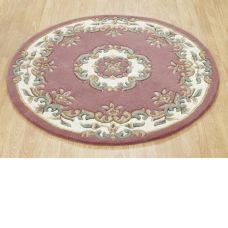 Royal Traditional Circle Rug - Rose