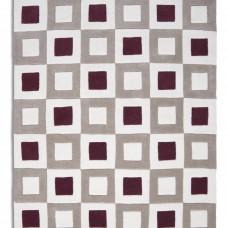 Cubed 02 - Wine / Aubergine / Beige Rugs