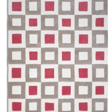 Cubed 03 - Pink / Beige Rugs