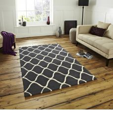 Elegant Soft Grey Wool Area Rugs - Grey