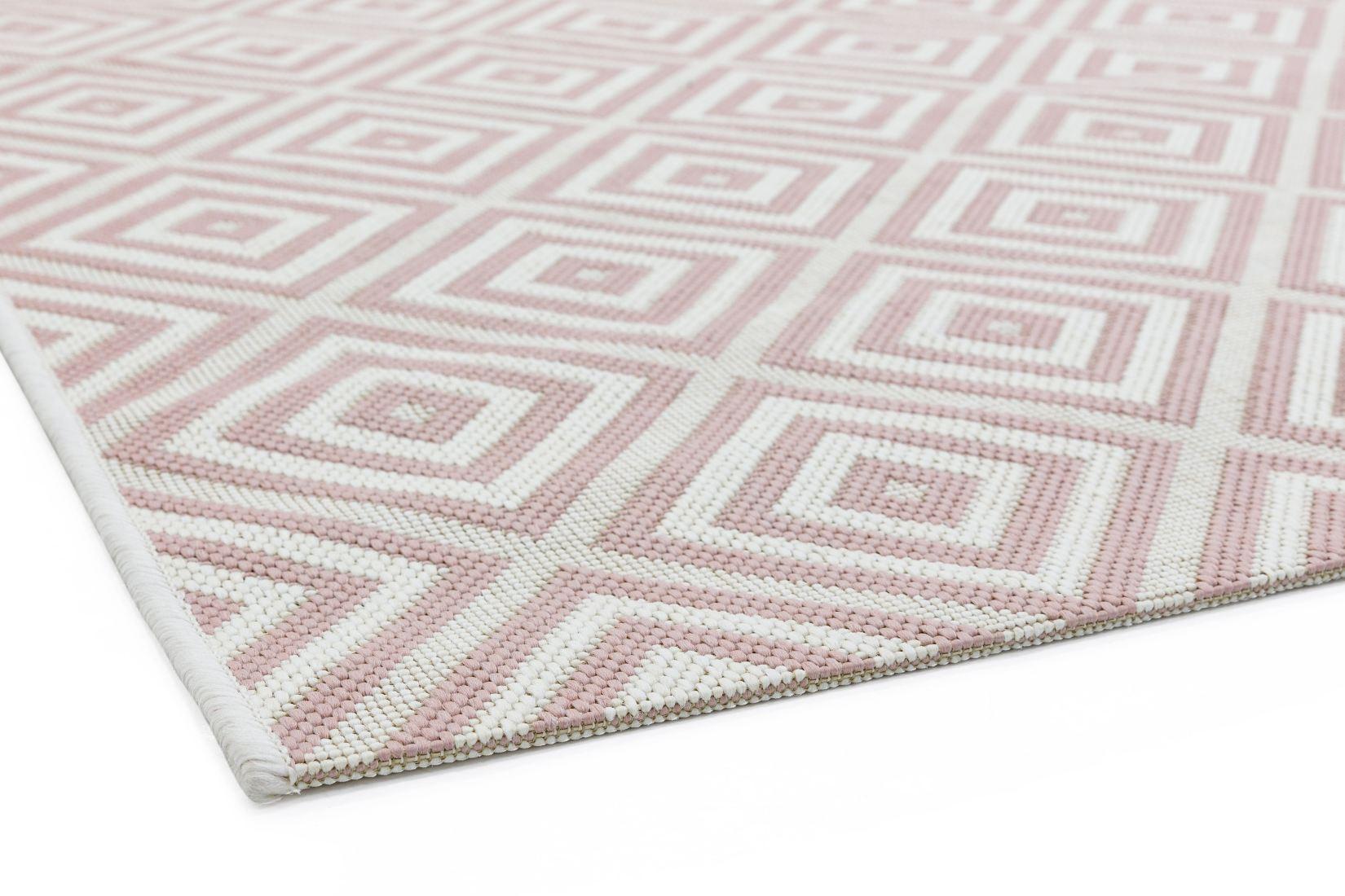 Patio Geometric In Outdoor Rug Pink, Pink Outdoor Rug Uk