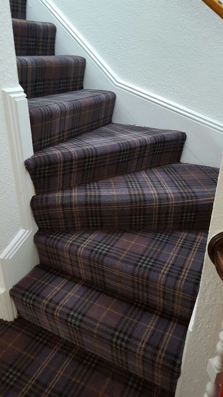 Woven Axminster Carpet Luxury Designer 80 20 Wool Tartan