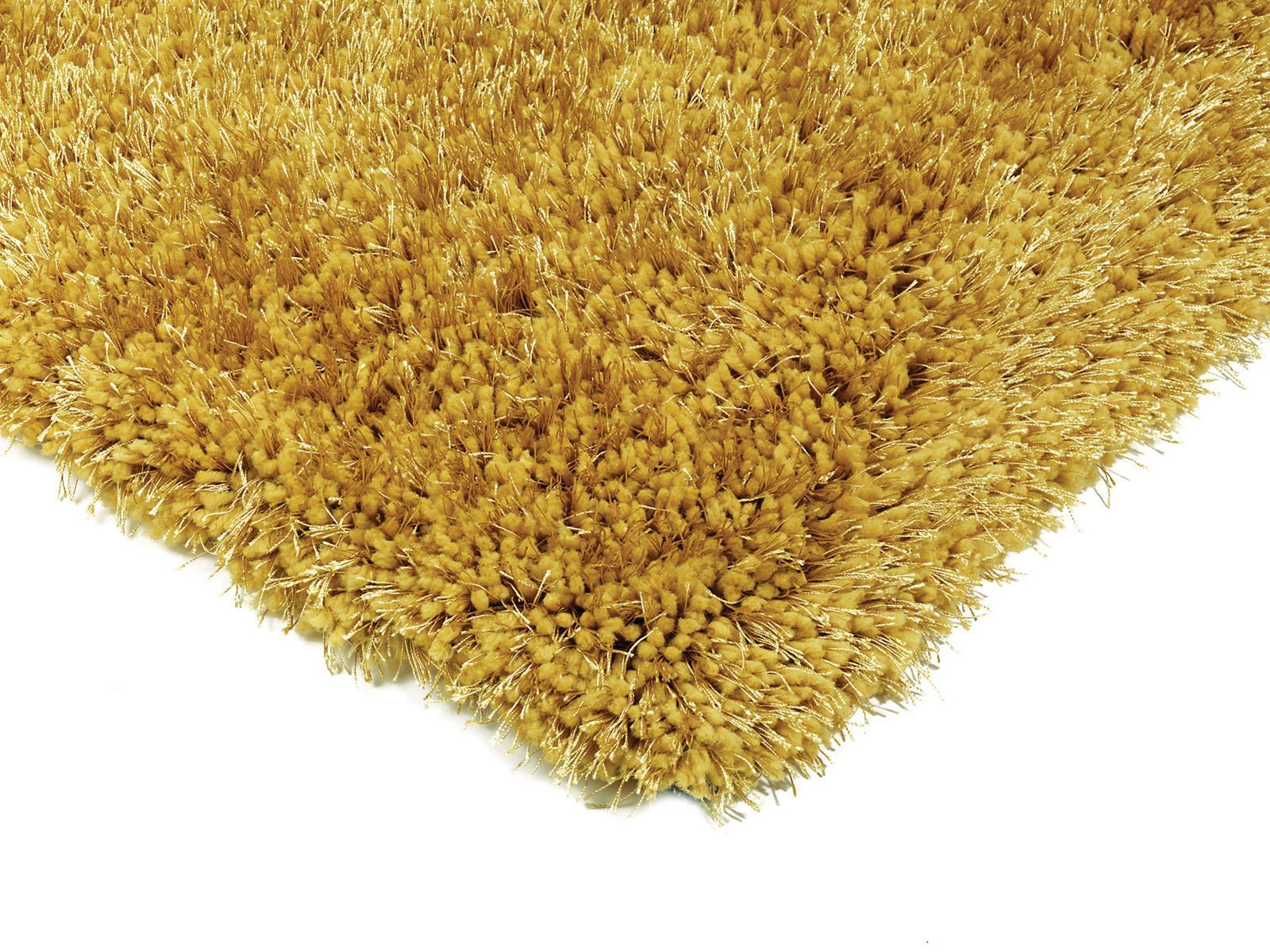 Diva Soft Shaggy Rugs - Yellow Rugs