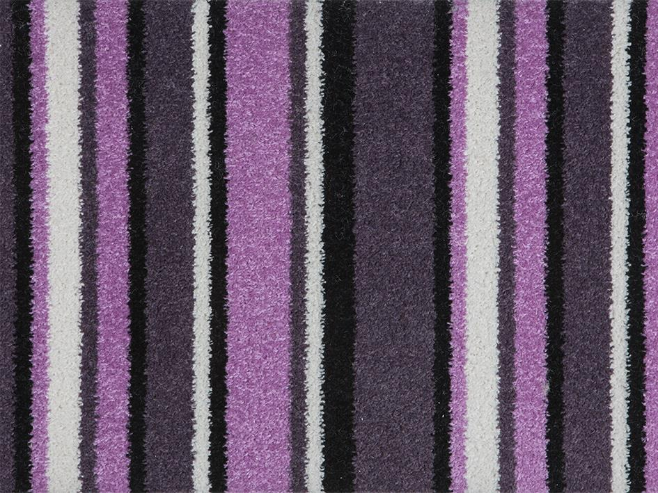 Purple Pink Stripe Carpet Hardwearing Stairs Landing