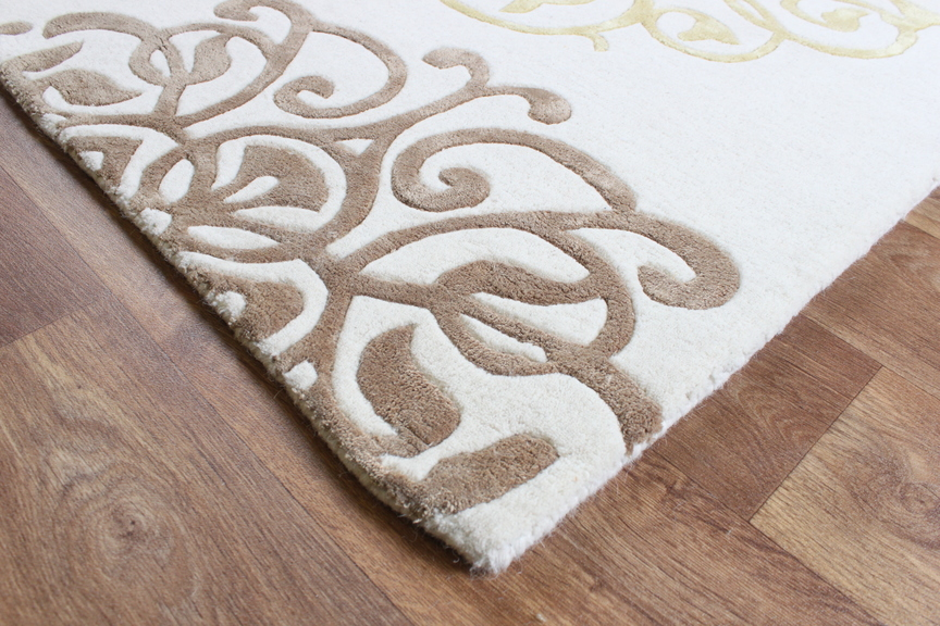 Matrix Cream Gold Thick Wool Petal Rug Max44 Martin