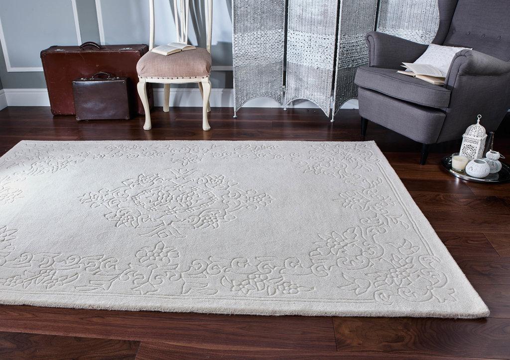 emperor luxury dense wool rugs - cream rug - martin phillips