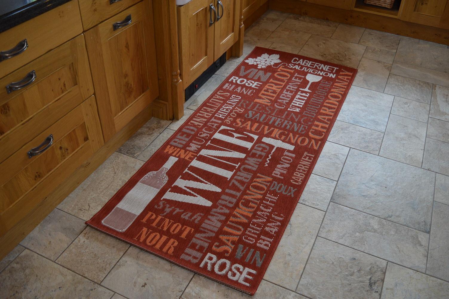 modern kitchen rugs  dark red wine mat  martin phillips carpets  - modern kitchen rugs