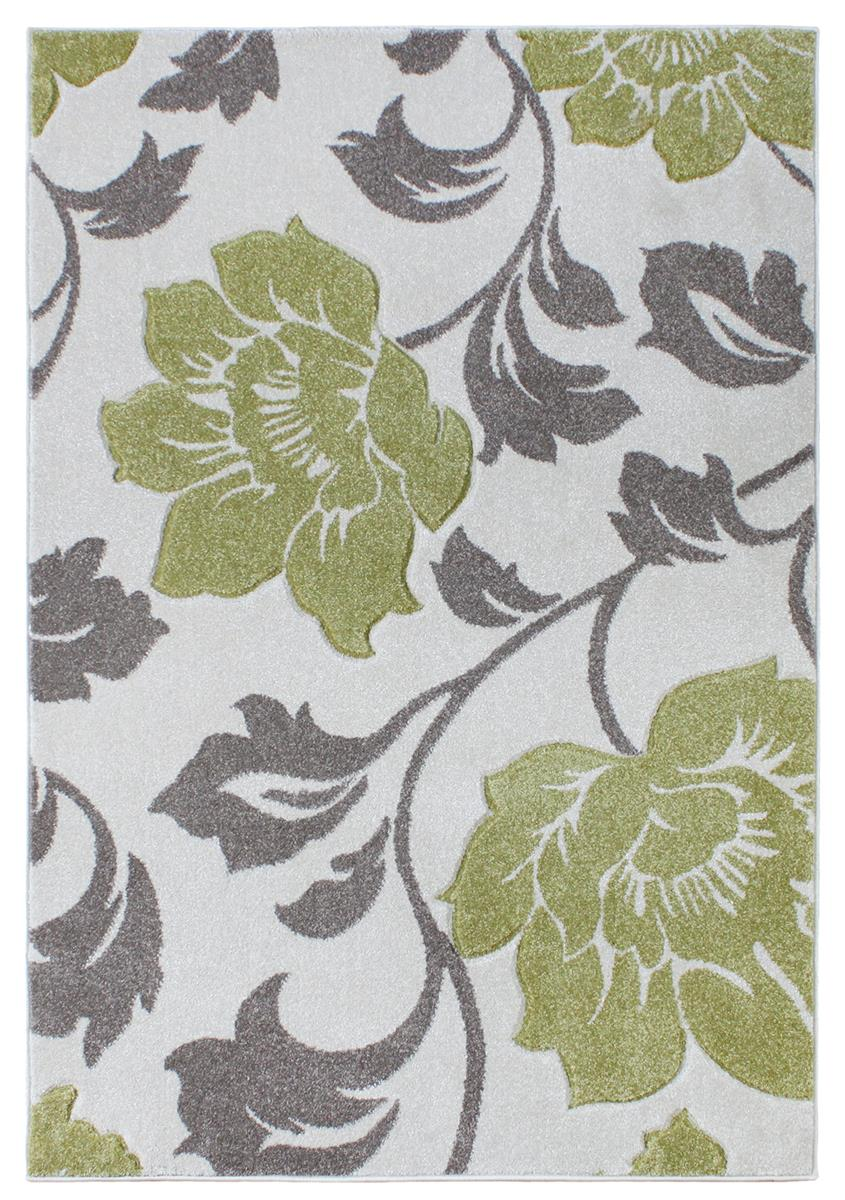 Passion floral green grey cream rugs martin phillips for Green and cream rugs
