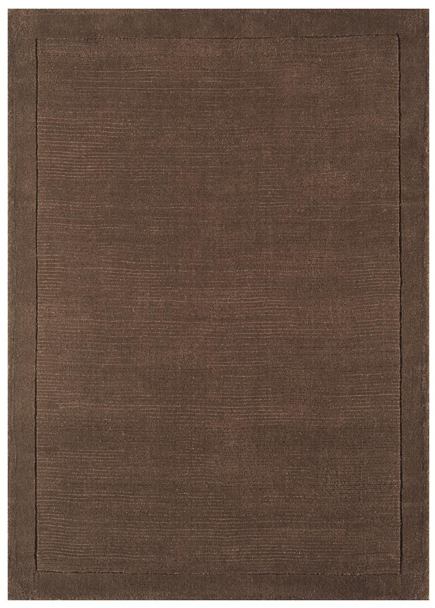 Venice Soft Plain Wool Rugs Chocolate Martin Phillips