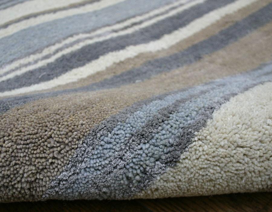 Stripes Luxury Wool Runner - Blue / Grey / Cream Rug - Martin Phillips Carpets - Martin Phillips ...