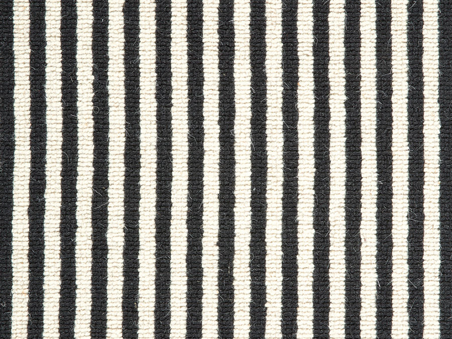 Highland wool berber zebra stripe for Black and white berber carpet