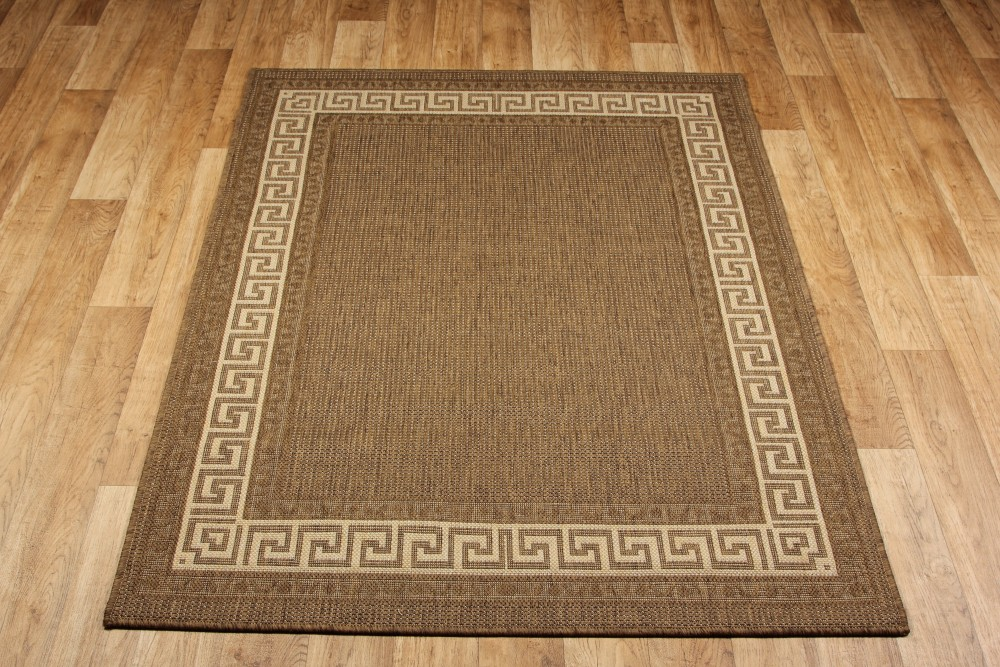 Greek Anti Slip Flatweave Rugs Brown Runners Martin