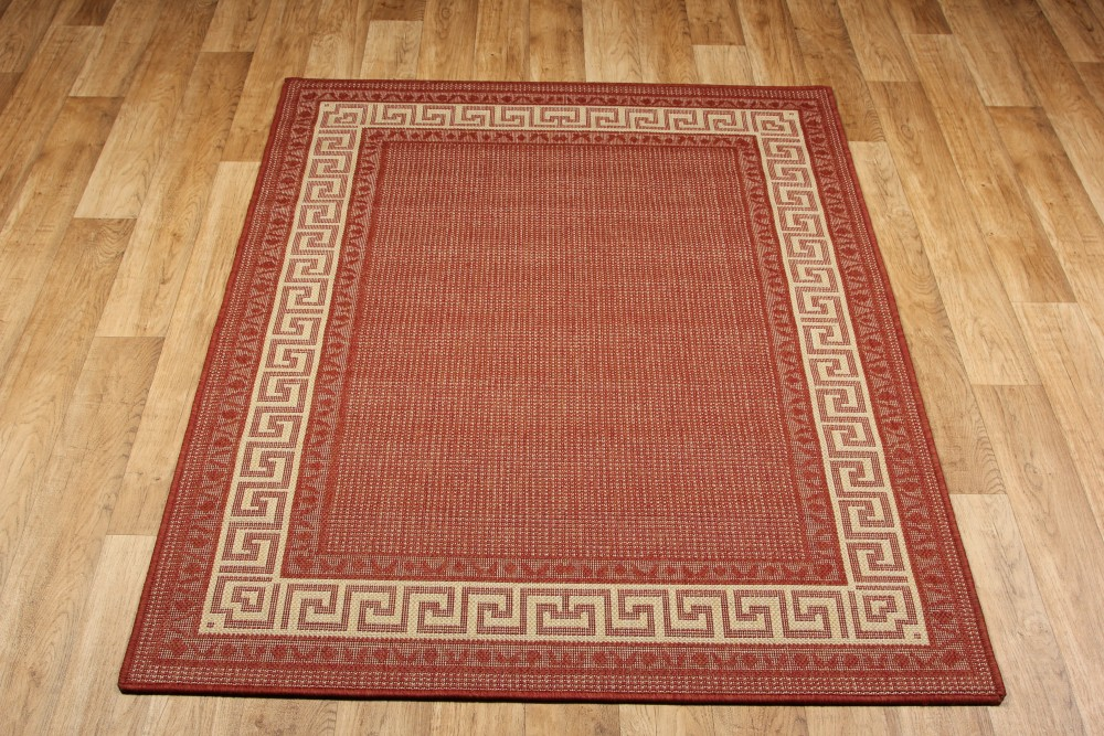 Greek Anti Slip Flatweave Rugs Red Runners Martin