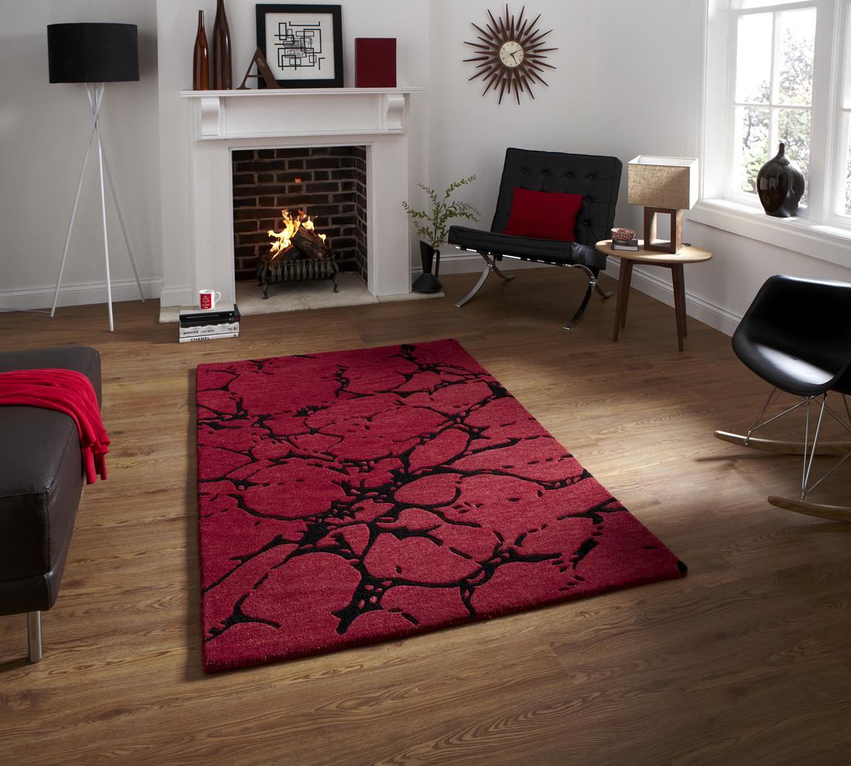 Red rugs for living room for Red carpet for living room